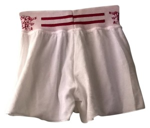 PERFETTO white with red detail Shorts