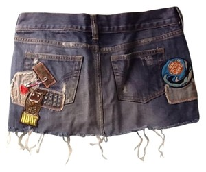 HOLLISTER COMPANY Mini Skirt light blue jean