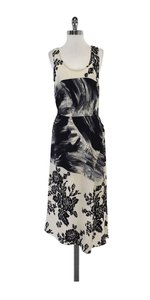 Tracy Reese Black Grey Beige Silk Dress