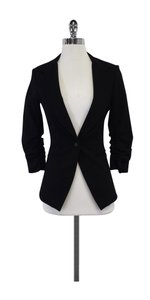 Elizabeth and James Black Single Button Blazer