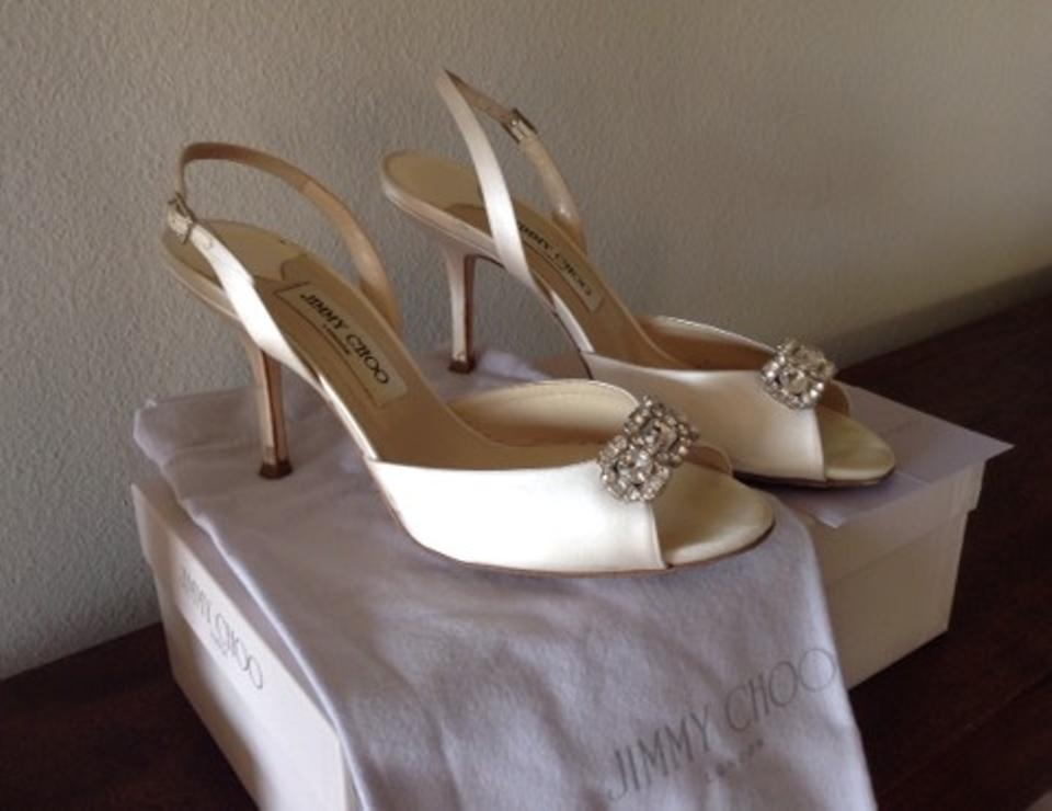 Ivory Silk Formal Choo Jimmy Satin 4B1Cqwn5