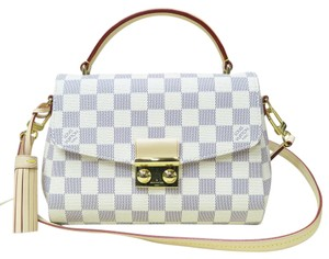 Louis Vuitton Lv Tote Damier Canvas Like New Satchel in white