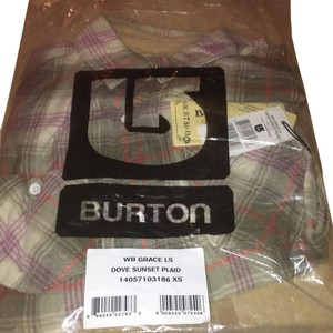 Burton Button Down Shirt Dove Sunset Plaid