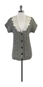 3.1 Phillip Lim Grey White Cable Knit Cardigan