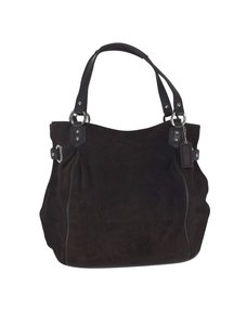Coach Brown Leather Suede Hobo Bag