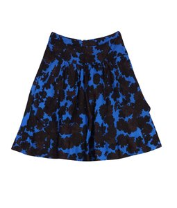 Marc by Marc Jacobs Brown Blue Floral Silk Skirt