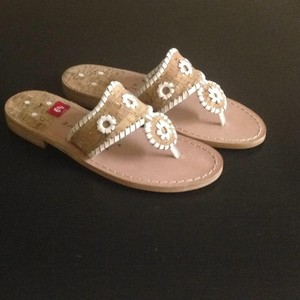 Jack Rogers Leather Sale Cork/White Sandals
