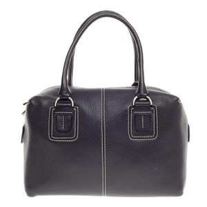 Tod's Tods Leather Satchel in Black