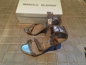 Manolo Blahnik Rose Gold Formal