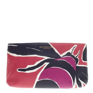 Burberry Pouch Leather Multicolored Clutch
