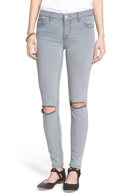 Item - Coal Gray Distressed Stretch Destroyed Ankle Skinny Jeans Size 30 (6, M)