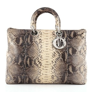 Dior Christian Python Tote in Grey