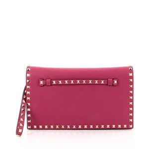 Valentino Leather Red Clutch
