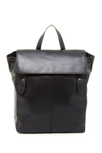 Kelsi Dagger Black Leather School Travel Backpack