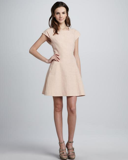 outlet Theory Dabor Square-neck Linen-cotton Dress