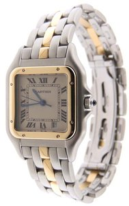 Cartier Cartier Panthere Mid-Size 27mm 1 Row 18K Y Gold / SS Date Watch