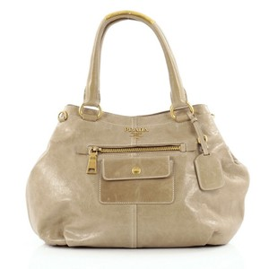 Prada Front Pocket Tote in Taupe