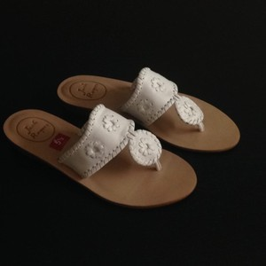 Jack Rogers Leather Sale White Sandals