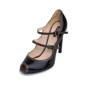 Giorgio Armani Black Brown Mary Jane Xgdh51a20839 Pumps