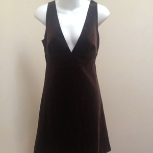 J.Crew Empire Waist Velvet Sleeveless Deep V Neck Dress