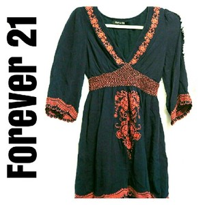 Forever 21 Boho Embroidered Tunic