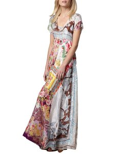 multi scarf Maxi Dress by Johnny Was