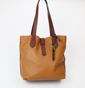 Lucky Brand Leather Tote in Tobacco