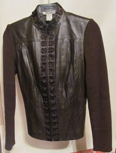 Peter Nygard Brown Leather Jacket