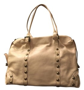 Almas Leather Studded Shoulder Bag