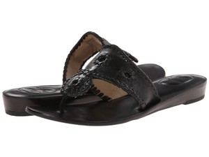 Jack Rogers Black Leather Sandals