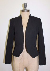 Aqua Cropped BLACK Blazer