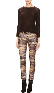 toile Isabel Marant Animal Print Cord Skinny Pants Multi-Colored