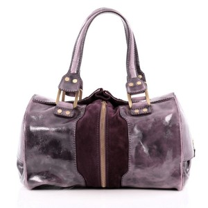 Jimmy Choo Leather Satchel in Purple