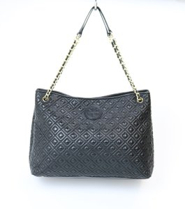 Tory Burch Quilted Tote in Black