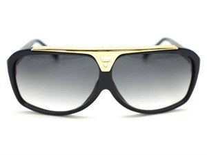 Louis Vuitton Authentic Louis Vuitton Black Evidence Aviator Sunglasses Model Z0350W