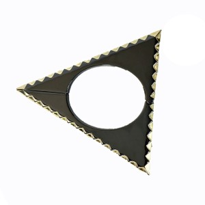 House of Harlow 1960 House of Harlow Triquetra Triangle Cuff Bracelet, Black/Gold