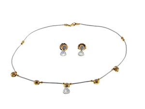 Charriol Charriol 18k gold & diamond cable necklace & earring set