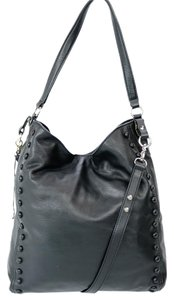 Loeffler Randall Leather Studded Top Handle Adjustable Strap Removable Strap Hobo Bag