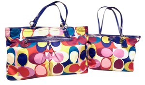 Coach Scarf Print Sateen multi Diaper Bag