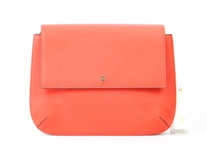 Tory Burch Messenger Crossbody Saffiano Leather Orange Messenger Bag