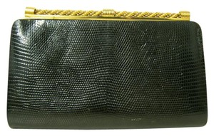 Gucci Vintage Black Leather Gucci Clutch