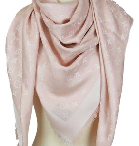 Louis Vuitton New LV Louis Vuitton Light Pink Monogram Denim Shawl Wrap M72046