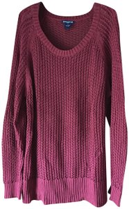 Architect Open Weave Plus-size Longsleeve Cotton Banding Sweater