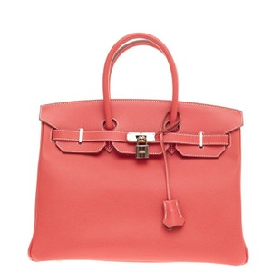 Hermès Hermes Leather Tote in Pink