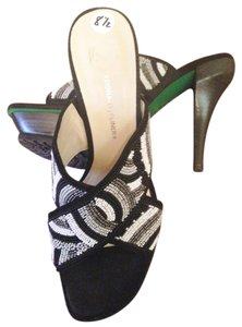 Donald J. Pliner Sandal Formal Pump Beaded Mule BLACK, GREY, WHITE, SILVER Platforms