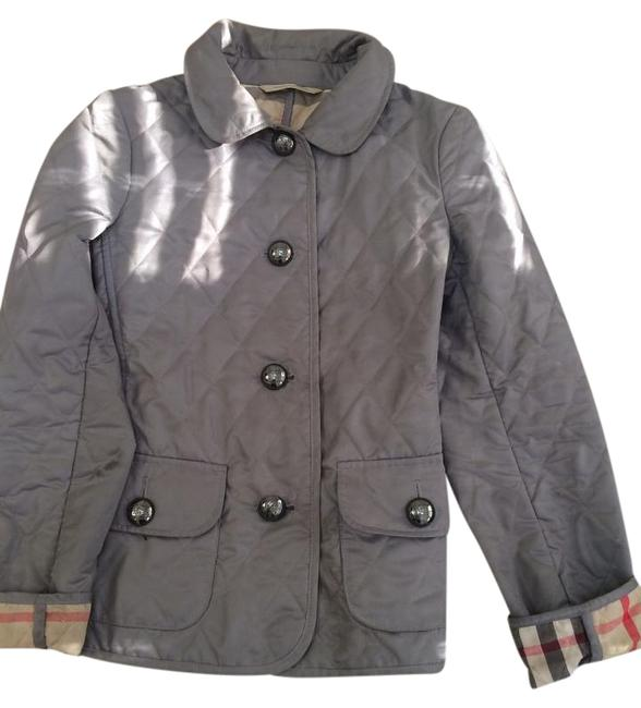 Item - Grey Classic Quilted Jacket Size 0 (XS)