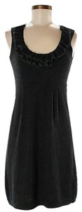 Nanette Lepore Wool Knit Ruffle Shift Sheath Dress