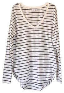 BP. Clothing Top White w/black stripes