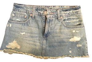 BDG Denim Jean Mini Urban Outfitters Mini Skirt Destroyed Denim