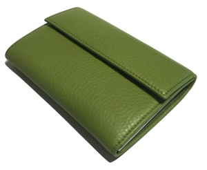 Gucci Gucci 346057 Cellarius Apple Green Leather Continental Wallet Clutch